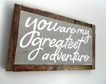 Rustic Nursery Sign Wood Wall Decor Nursery Wood Sign Greatest Adventure Reclaimed Wood Rustic Nursery Wall