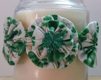 St. Patrick's Day Clover Yo Yo Candle Tie