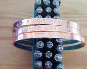 Sister bangles. Copper (rose gold tone.) Choose combo...cuff bangle...