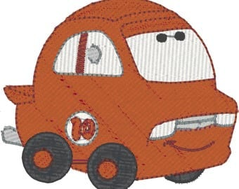 10 Chubby Cars for 4x4 Hoop Machine Embroidery Designs