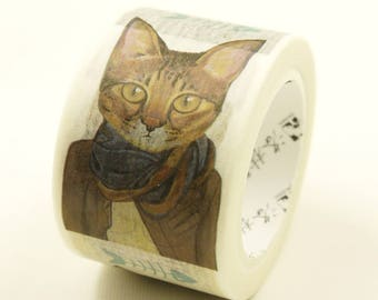 Love Cat 02 - Japanese Washi Masking Tape - 25mm Wide - 7.6 Yard