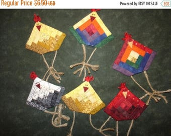 20 % off thru 8/20 Miniature log cabin Chicken pin