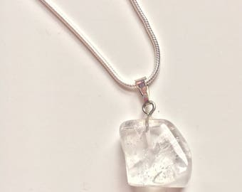 Crystal sterling silver crystal necklace / bridesmaid, mother of the bride gift / pendulum