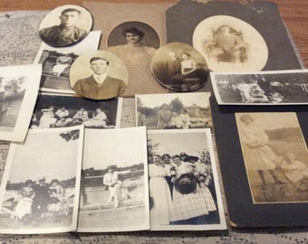 Vintage photos lot for crafting or collecting early 1900s