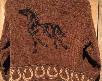 Equestrian Cardigan Sweater