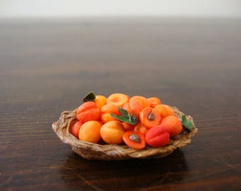 Miniature fruit basket with apricots