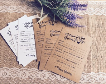 x10 Advice for the Bride OR Groom Cards