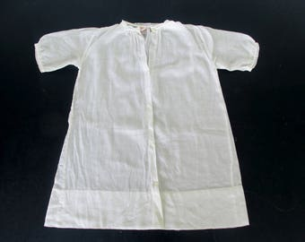 Vintage Infant Night Shirt Gown Baby Layatte Nightgown Sleepwear Antique Reenactment