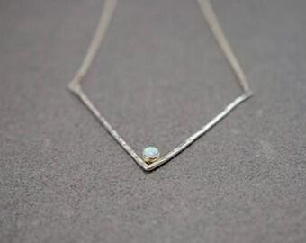 Opal Chevron Necklace