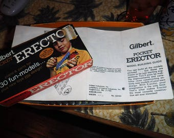 Gilbert Pocket Erector set 1970's