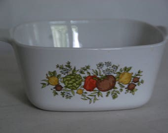 Vintage Spice of Life Corning Ware Casserole Dish - 2 3/4 Cup