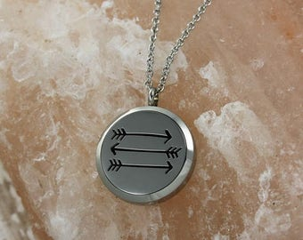 Arrows Essential Oil Diffuser Necklace- Arrows Aromatherapy Necklace- Stainless Steel Diffuser- Arrows Necklace- Arrows Direction Wanderlus