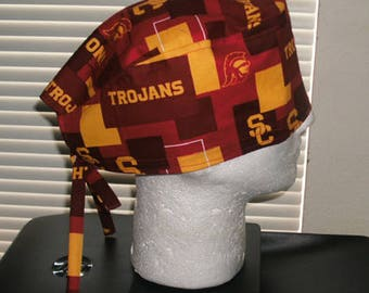 USC Trojans Fight On Scrub Cap, Surgical Cap, Chemo Cap, Headwear