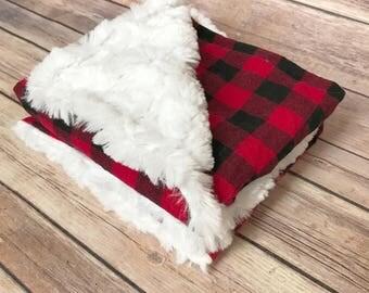 Infant Baby Blanket - Buffalo Plaid Baby Blanket - Woodland Nursery - Car Seat Blanket - Buffalo Plaid Nursery - Buffalo Plaid Baby Shower