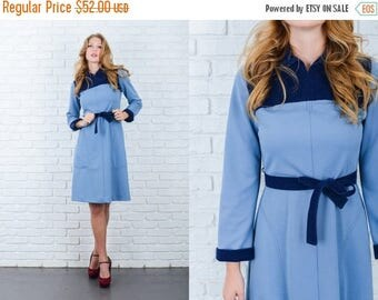 ON SALE Vintage 60s Mod Dress Color Block Velveteen Mod A Line Medium M 6091 vintage dress color block dress mod dress a line dress medium d