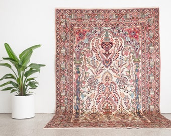 SHEYDA 6x9.5 Hand Knotted Persian Wool Rug
