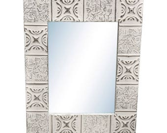 Basket Weave 22 in. x 28 in. Tin Mirror