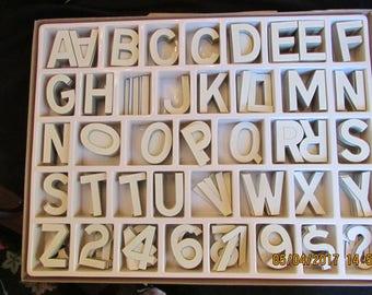 2 Huge Boxes Hallcraft 700 Diecut Display Letters Numbers Symbols Diecut