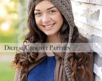 ON SALE Crochet Pattern / Hat Pattern / Pixie Hat Pattern 004 & 005 / Elf Hat Pattern / Gnome Pattern
