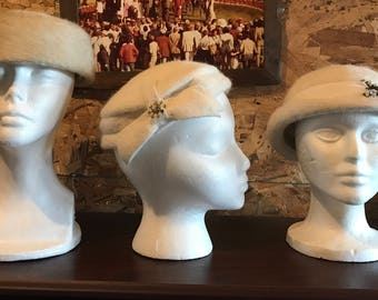 Vintage Hats -Set of 3