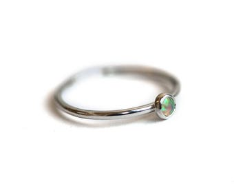 Pelee Opal Ring | Silver | Ready to Ship