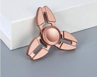 Finger Spinner--Fidget Hand Spinner--Rose Gold-Crab clamp Fidget Spinner--Fidget Toys--Desk toys-Stress balls