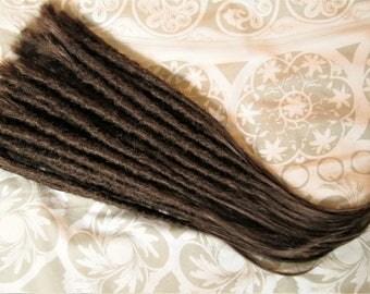 Human hair dreadlocks / Dreadlock extensions / Natural dreadlocks / Brown dreads
