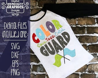 Color Guard Spin, Toss, Catch Mom, Dad, Sister and Bro with svg, dxf, png and eps Commercial & Personal Use
