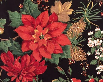 Opulance Poinsettia Fabric - Concord House - OOP