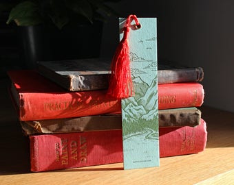 Letterpress Bookmark - Landscape