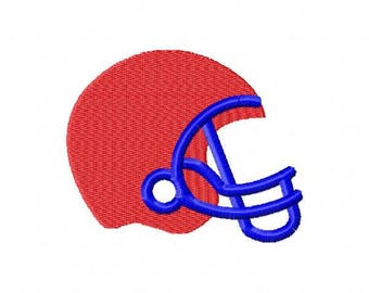 Football Helmet Machine Embroidery Design - Instant Download