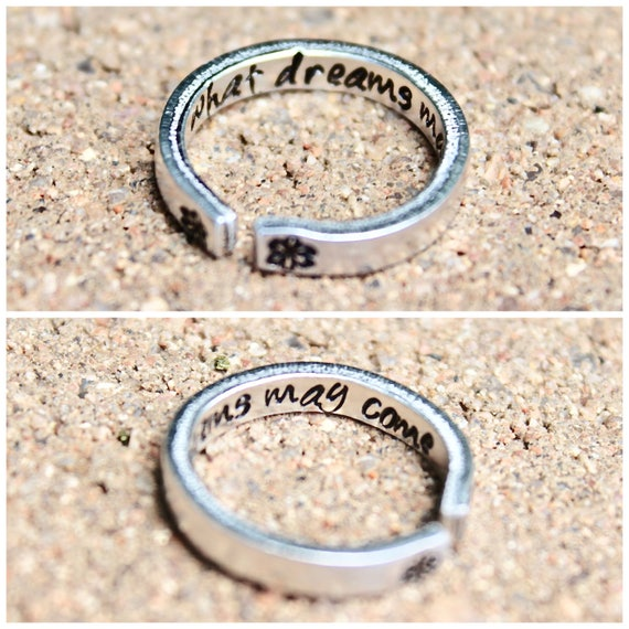 What Dreams May Come Ring, Stackable adjustable ring, What dreams may come, Gift for dreamers, Dreamer Ring, Adjustable Ring, What dreams