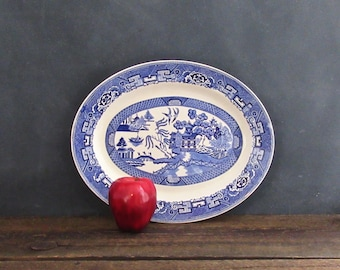 "Blue Willow Ware Homer Laughlin 13.5"" Platter, Willow Ware Platter, Farmhouse Decor"
