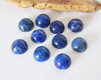 Natural Afghanistan Lapis Lazuli 6mm Round Cabochon Lot 9.20cts