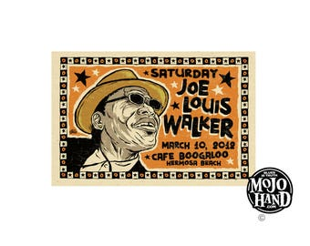 "big 12""x18"" concert poster - Joe Louis Walker - california- signed by Grego of mojohand.com"