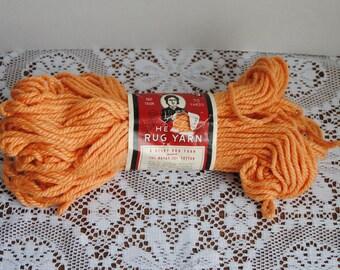 Vintage Aunt Lydia's Peach Heavy Rug Yarn 248