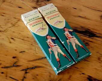 Vintage Dixon Ticonderoga Pencils Vintage 1 Extra Soft Dixon Pencils Drawing Pencils Art Supply from The Eclectic Interior