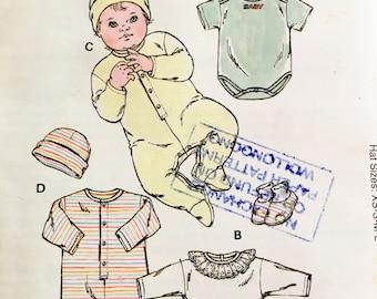 Kwik Sew 2433 Baby's Romper, Jumpsuit, Cap and Booties