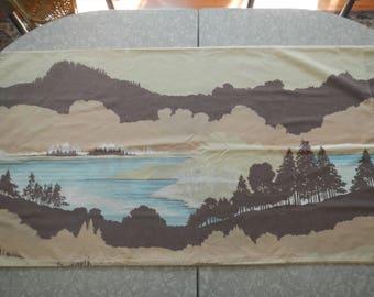 Vintage Wilderness Nature Forest Scene Large Pillowcase Set (2)