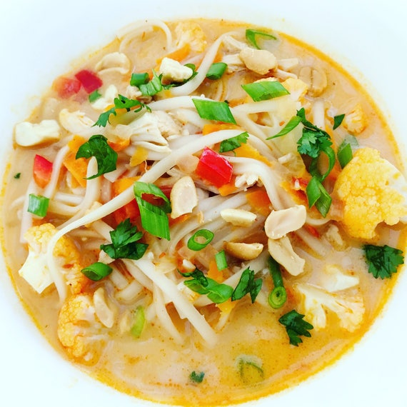 Thai chicken noodle soup recipe pdf from thefinishedplate on etsy studio forumfinder Choice Image