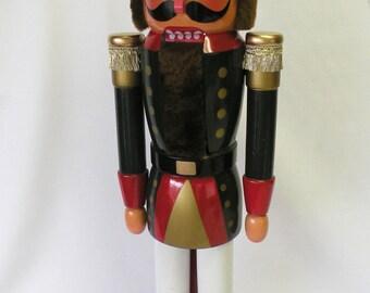 Large Christmas Nutcracker, 25 inch Wooden Nutcracker, Sheriff Nutcracker, Holiday Soldier Guard, Christmas Decoration, Policeman Nutcracker
