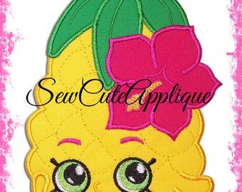 Shopkins Pineapple Crush No Sew Applique Patch