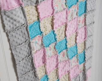 Custom crib bedding for Kari! Pillow, lovie, & name embroidery