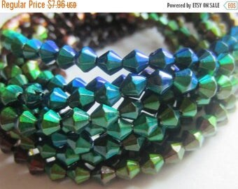 ON SALE Mood Bead Mirage Bead Polymer Clay Bead Heat Sensitive Bead 5mm Bicone QTY 1 Strand