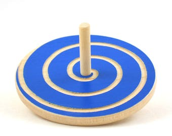 Wooden Spin Top - Spinning Top - Etsy Kids - Christmas Gift - Choose any color