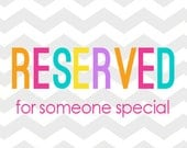 Reserved listing for Abigail Luna
