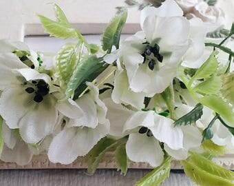 7 cm Forest Series butterfly orchid Silk Flower/ Artificial Flowers/wedding/ Flower crown /Flower Bouquet/ Brooch/Hat /Shoe accessories(t.a)