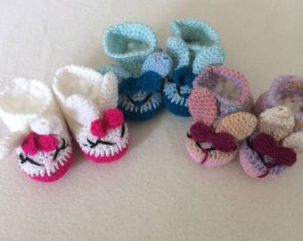 """ON SALE - 10% OFF Crochet shoes  for 16""""-18"""" Waldorf doll and American girl doll"""