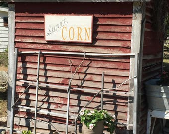 LARGE Sweet CORN sign garden sign farmhouse kitchen farmhouse decor antique advertising sign general store sign farm sign vintage signs