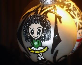 "Large 4"" Irish dancer Christmas ornament"